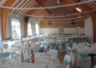 Stunning blue and white themed wedding