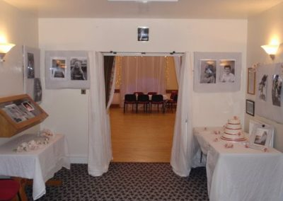 The entrance hall transformed for a wedding
