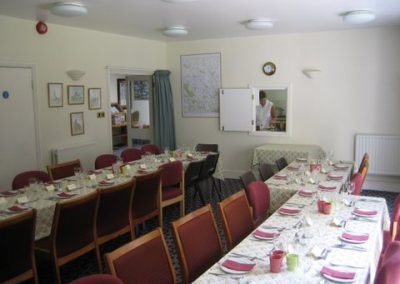 The function room has a hatch through to the kitchen