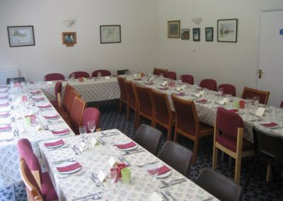 The function room laid out