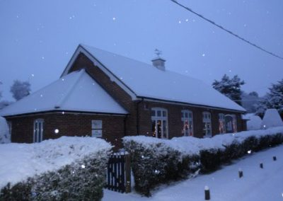The hall in the snow