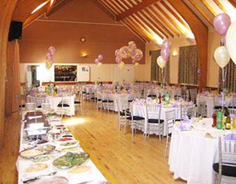 tables set for a wedding